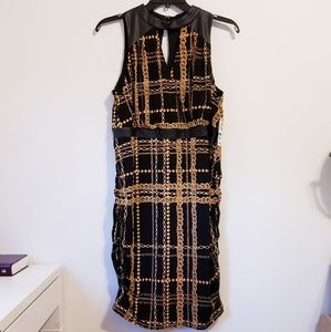 NWT! Womens Black and Gold Dress